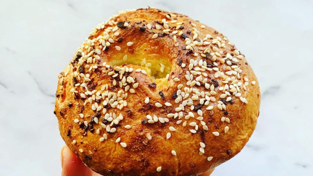 Sesame and Poppy Seed topped grain & gluten free paleo bagels